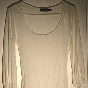 The Limited size Medium women's  3/4 length tee